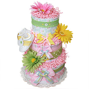 Springtime Girl Diaper Cake