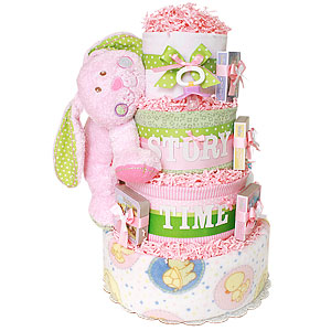 Story Time Bunny Diaper Cake