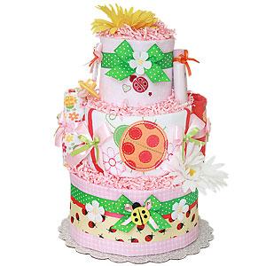 Summer Bugs LadyBug Diaper Cake