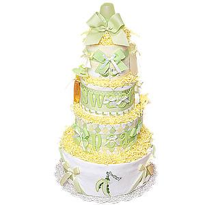Sweet Pea Diaper Cake