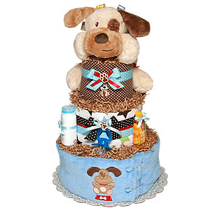 Taggies Puppy Diaper Cake