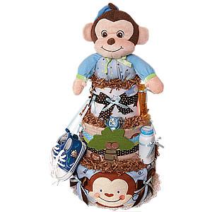 Jungle Musical Monkey Diaper Cake