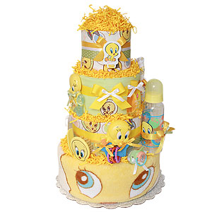 Tweety Bird Looney Tunes Diaper Cake