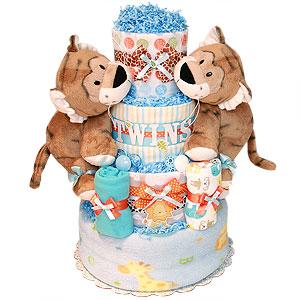 Tiger Twins Diaper Cake