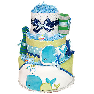 Two Whales Diaper Cake