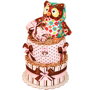 Whooo Loves You Owl Diaper Cake