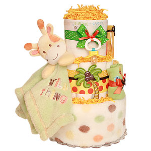 Wild Thing Giraffe Diaper Cake