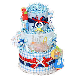 Work Zone Diaper Cake