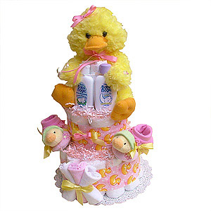 Yellow Duck Diaper Cake