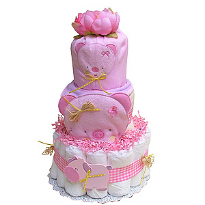 Cute Little Piglet Diaper Cake