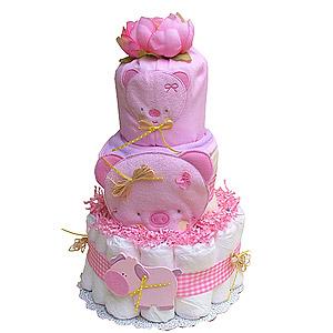Cute Little Piglet Diaper Cake