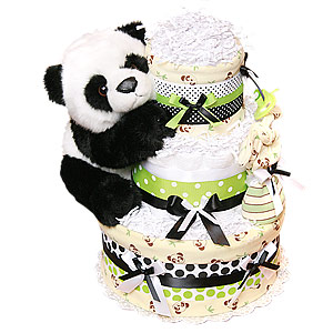 Panda Bear Diaper Cake